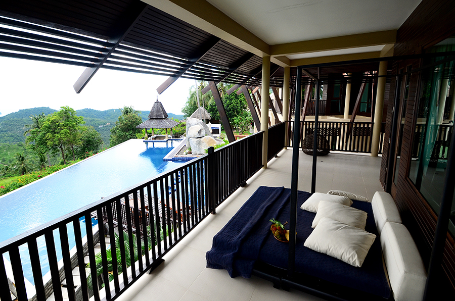 chill out on terrace of master suite